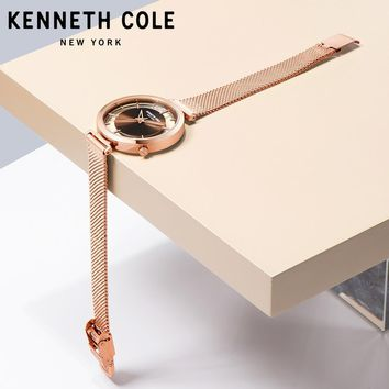 Kenneth Cole 2018 New Arrivals Womens Watches Quartz Steel Gold Silver Strap Bracelet Luxury Brand Watches KC50232004