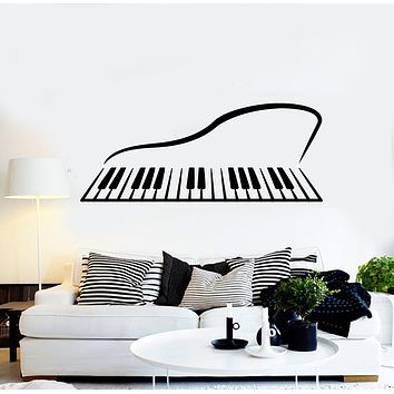 Vinyl Wall Decal Abstract Piano Musical Instrument Pianoforte Stickers Mural (g747)
