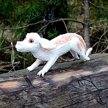 Falkor The Neverending Story figurine sculpture handmade of clay, falkor fantastic Miniature collectible figurine, fantasy creature, fanart