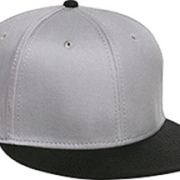 Otto Cap 125-978 - Wool Blend Snapback (Blk/Gry/Gry)