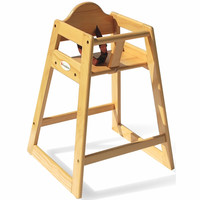 Foundations Classic Wood High Chair in Natural - 4501049