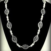 Byzantine and Leaves Necklace