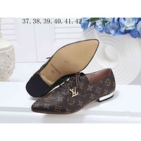 LV Louis Vuitton Popular Women Casual Lace Up Flat Single Shoes I-KSPJ-BBDL
