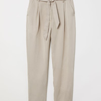 H&M Lyocell Paper-bag Pants $39.99