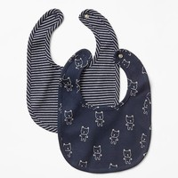 Gap Favorite Printed Bib 2 Pack Size One Size - Blue galaxy