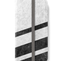 'White Striped Marble' iPhone Case/Skin by ngdesign81
