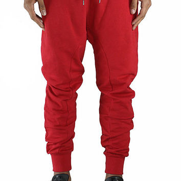 French Terry Red Joggers