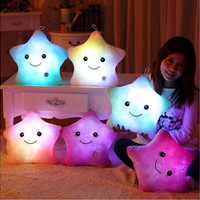Stuffed Dolls LED Stars Light Colorful Pillows Popular Plush Toys for Kids = 1946379396