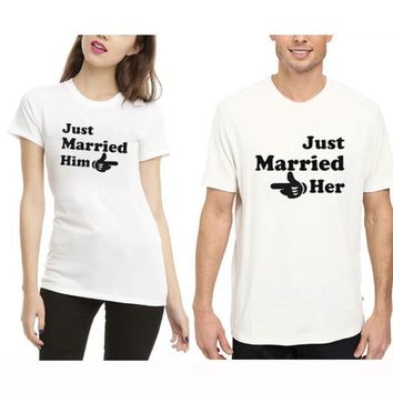 Just Married her Just Married him T-Shirts