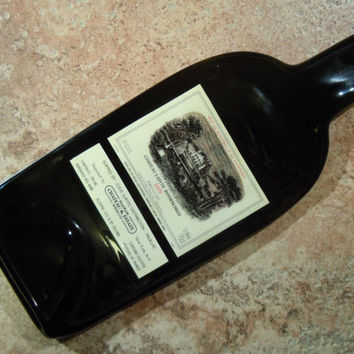 Chateau Lafite Rothschild 1999 France Slumped Melted Flattened Flat Wine Bottle Cheese Tray Spoon Rest Glass Plate Eco Gift