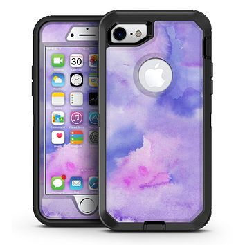 Punk Pink Absorbed Watercolor Texture - iPhone 7 or 7 Plus OtterBox Defender Case Skin Decal Kit
