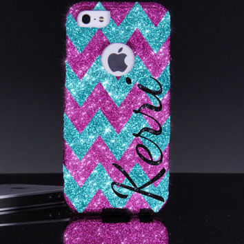 iPhone 5/5S Otterbox Case - Chevron Print Personalized Name iPhone 5/5S Commuter Case - iPhone 5/5s Otterbox Cover