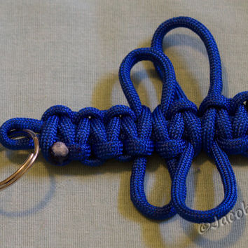 Paracord Dragonfly Key Fob Cobra Weave
