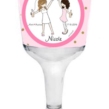 Bridal Party - Final Toast to Single Life Wine Tumbler