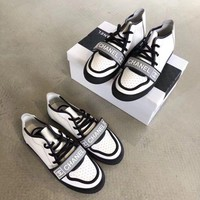 Chanel Women Fashion White Sneakers
