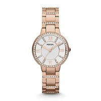Fossil Women's Watch Virginia Three Hand Stainless Steel Watch