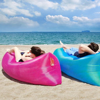 Inflatable Air Sofa Air Bed Waterproof Sleeping Bag Camping Beach Sofa Lounger Bed High Quality Lazy Bags Undertake 200kgs