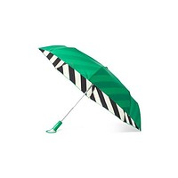 Travel Umbrella in Green and Black Stripe by Kate Spade New York - FINAL SALE