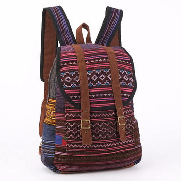 Southwest Backpack Native Tribal Rucksack Hmong Textile Hippie, Boho, Gypsy Style