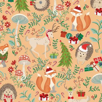 Bulk Ream Roll Christmas Gift Wrap Wrapping Paper, Woodland Animals