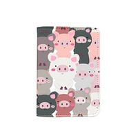 Cute Pig Pattern Passport Holder - Leather Passport Cover - Vintage Passport Wallet - Travel Accessory Gift - Travel Wallet for Women and Men_LOKISHOP