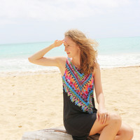 Color Tribe Shift Dress in Navy