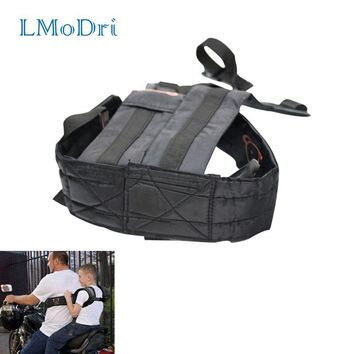 LMoDri Motorcycle Adjustable Child Belt Electric Motorbike Safety Belt Durable Baby Carrier Motorcycle Carry Children Harness