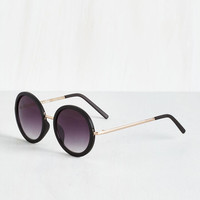 ModCloth Vintage Inspired The Music Seen Sunglasses in Black