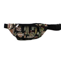 Vintage 90s Fanny Pack with Las Vegas Tapestry Print