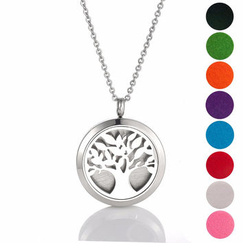 Stainless steel Essential Oil Diffuser Necklace Perfume Pendant Necklace Aromatherapy locket pendant necklace