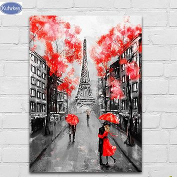 5d Diamond Painting Mosaic diy  Paris Street Love