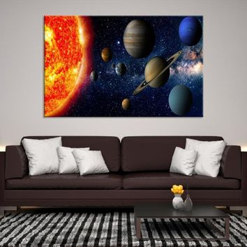 54708 - Planet Earth Moon Wall Art, Space Wall Art, Earth n Moon Art, Planet Earth Canvas, Space Canvas Art, Earth Moon and Stars, Moon Poster, Galaxy Art