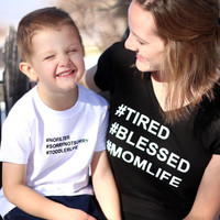 Mommy & Me Hashtag t-shirt set
