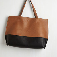 Colorblocking Colorblock and Stroll Bag in Cappuccino by ModCloth