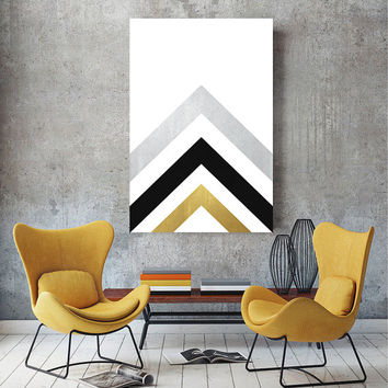 Minimal Scandinavian Poster, Gold Printable Geometric Art, Best Selling Minimal Print, Nordic Poster Scandinavian Print, Dream Print Designs