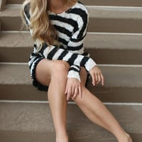 dreaming in stripes knit sweater