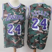 Kobe Bryant Los Angeles Lakers Mitchell & Ness Camouflage Fashion Hardwood Classics Swingman Jersey - Best Deal Online