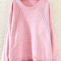 Pink Slits Sweater