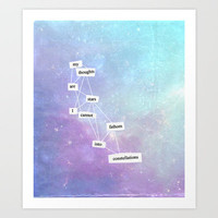 the fault in our stars Art Print by Kate Hughes