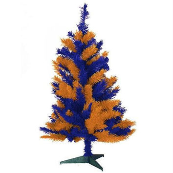 Fighting Illini Artificial Christmas Tree - Official Colors Of The University Of Illinois