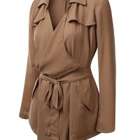 J.TOMSON Womens Thin Trench Coat
