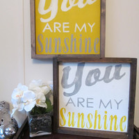 "Wood Sign ""You Are My Sunshine"""