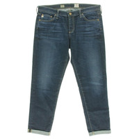 Adriano Goldschmied Womens Cuffed Mid-Rise Cigarette Jeans