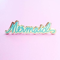 Mermaid Pin - Blue Glitter
