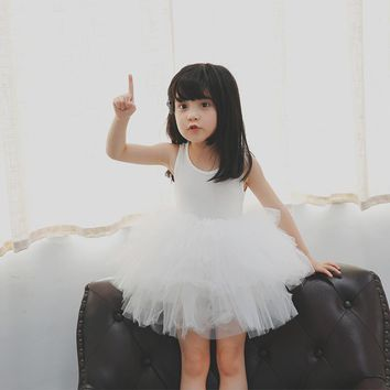 2017 New Girls Dresses for Party and Wedding baby girl princess dress Costume Vestido children clothing black white 2t 3t 4t 5t