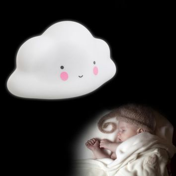Lovely Cloud Smile Face Night Light Children Bedroom Mini LED Lamp Bulb Decor-Y122