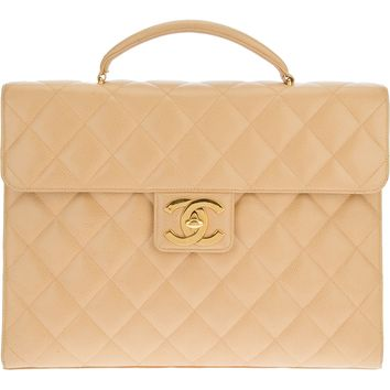 Chanel Vintage Quilted Briefcase
