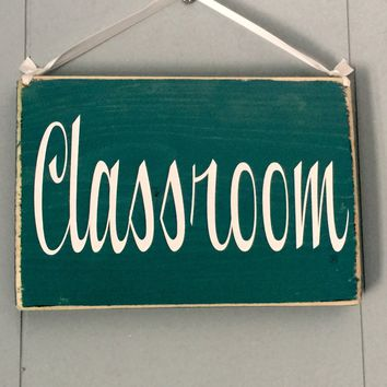 8x6 Classroom Wood Sign