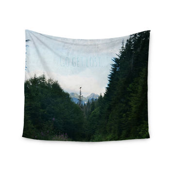 "Robin Dickinson ""Go Get Lost"" Forest Green Wall Tapestry"
