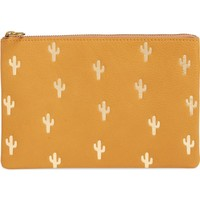 Madewell The Leather Pouch Clutch: Embossed Cactus Edition | Nordstrom